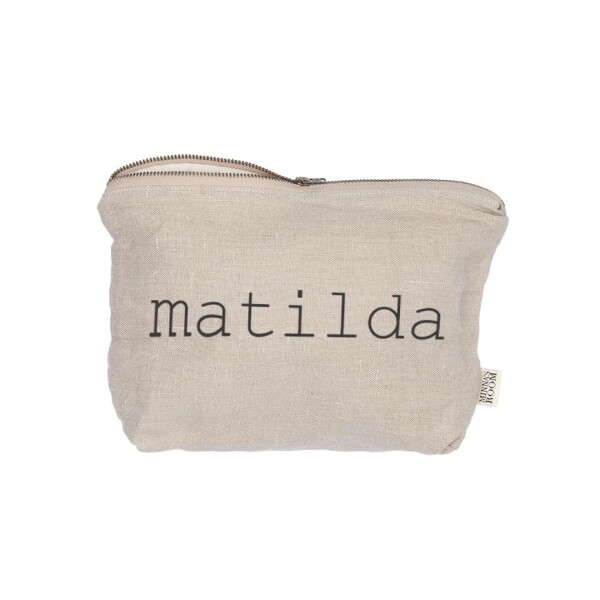 Cosmetic bag with name   Minna's Room