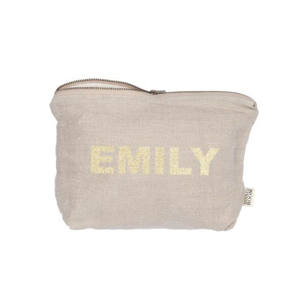 Cosmetic bag with name | Minna's Room