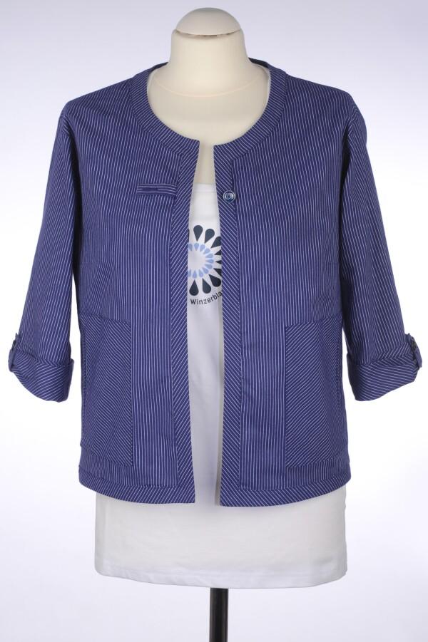Tiny blue cropped jacket | Winzerblau