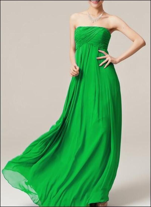 Green chiffon Empire evening dress | Lafanta | Braut- und Abendmode