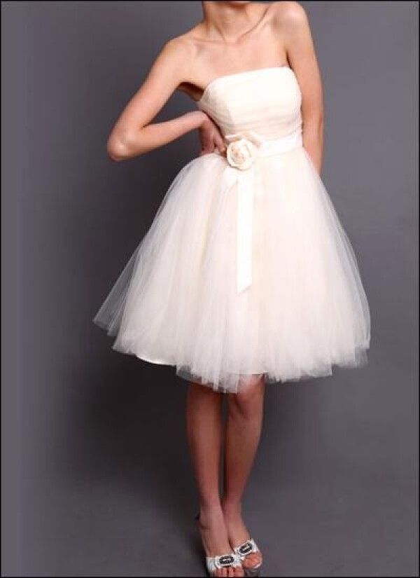 Short wedding gown made of tulle | Lafanta | Abend- und Brautmode