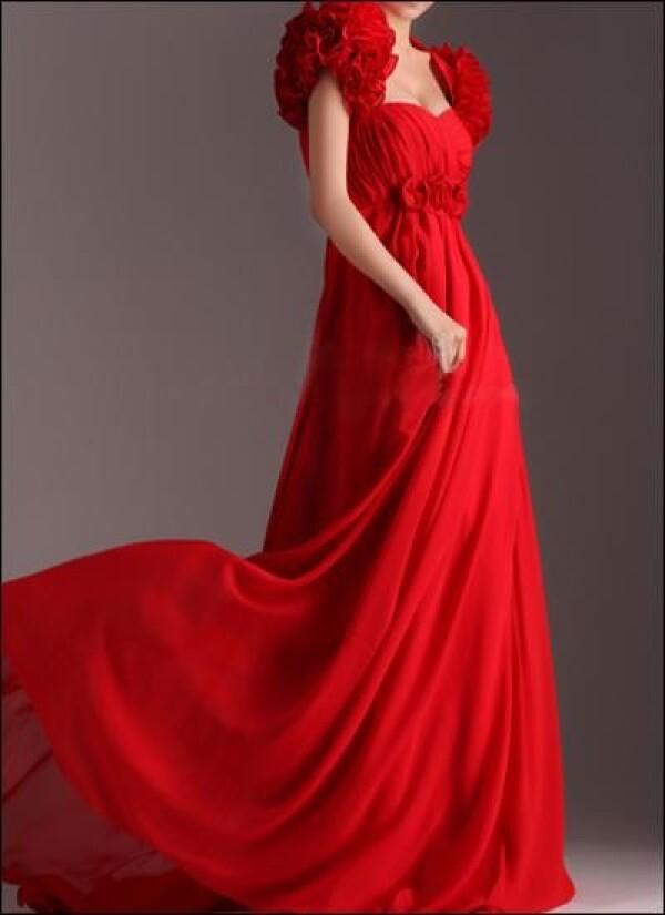 Empire wedding dress with flower application | Lafanta | Abend- und Brautmode