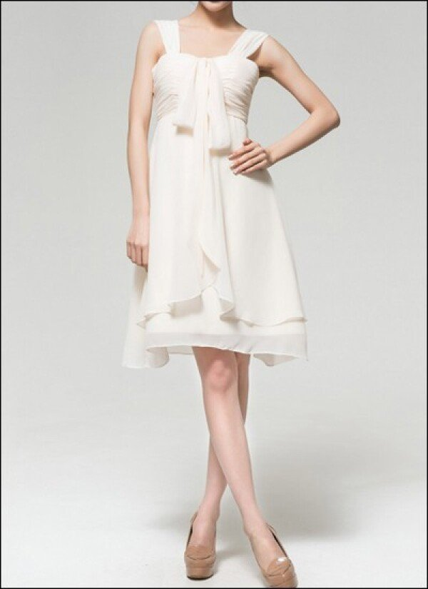 Short chiffon Empire gown for the registry office | Lafanta | Abend- und Brautmode