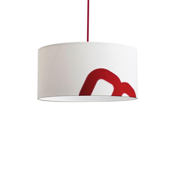 Maritime ceiling lamp home port 45cm sail with textile cable | lumbono