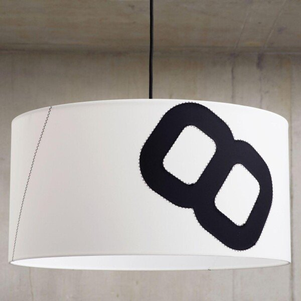 Maritime ceiling lamp home port 60cm sail with textile cable | lumbono
