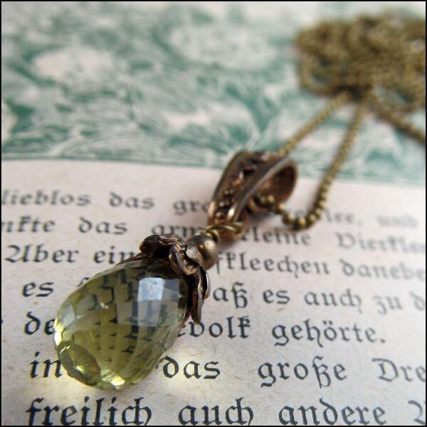 Incredibly delicate genuine lemon quartz necklace   Carol and Me