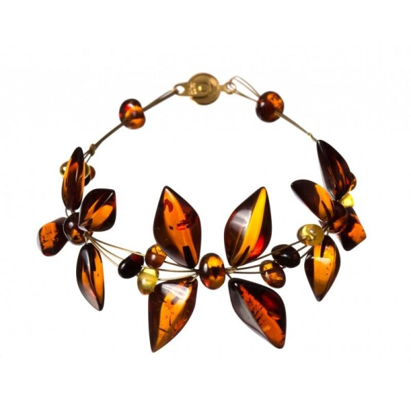 Light cognac amber bracelet | BalticBuy