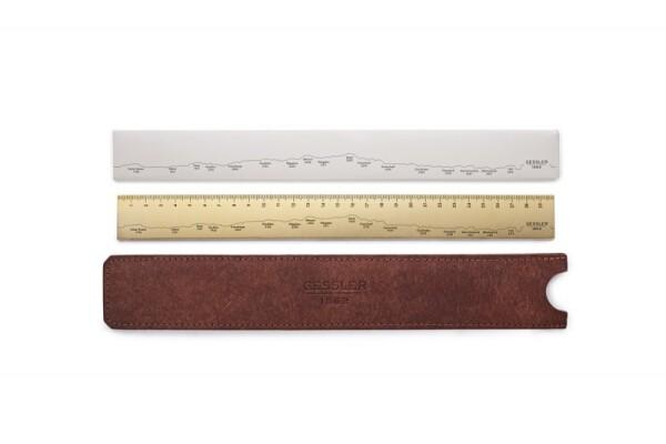 Brass ruler Gessler1862 | Gessler 1862
