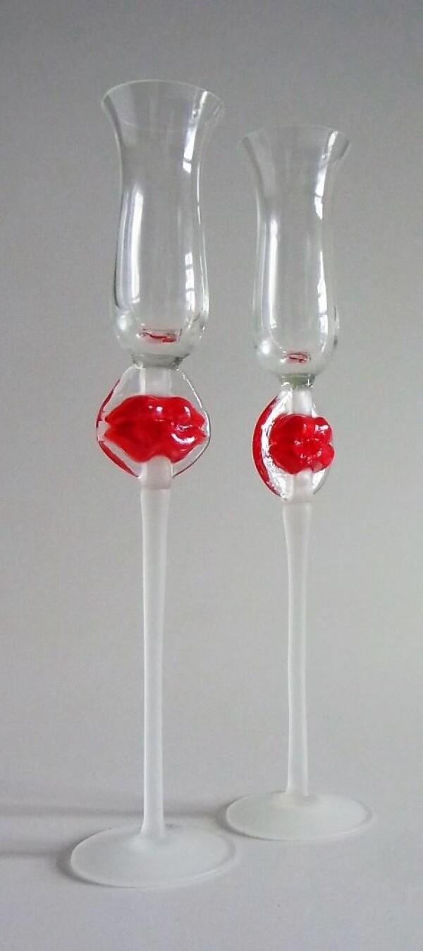 Sparkling Wine Glasses Lips Set 2 | Design Elena