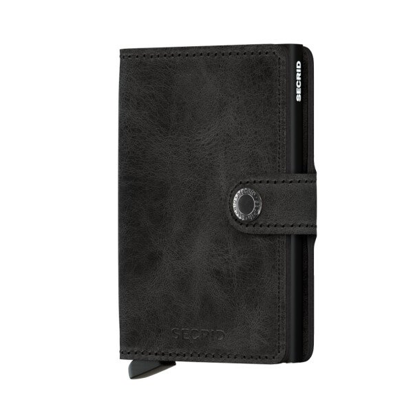 SECRID Miniwallet purse vintage black leather | LAMARI BERLIN