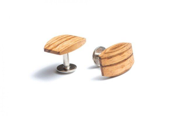 BeWooden cufflinks made of wood Lini | BeWooden GmbH