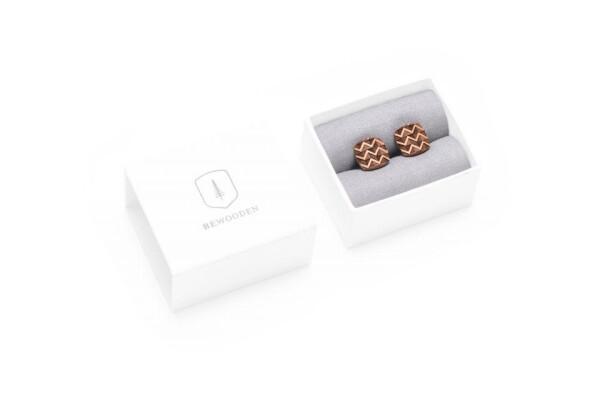 BeWooden cufflinks made of wood trio cuff | BeWooden GmbH