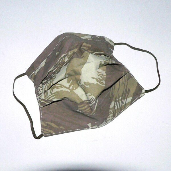 Mouth-nose mask camouflage khaki | Eva Brachten Modedesign