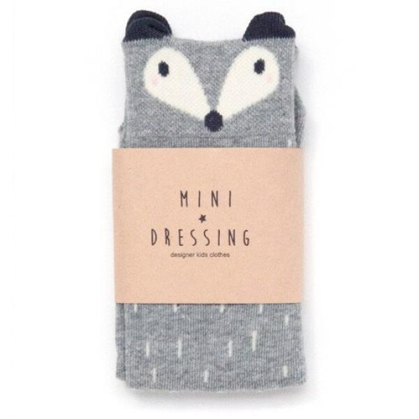 Gray knee socks raccoon   das goodshaus