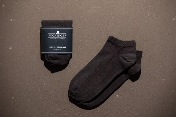 SOCKINGER FOOTLINGS in black | Sockinger-Die Sockenmanufaktur