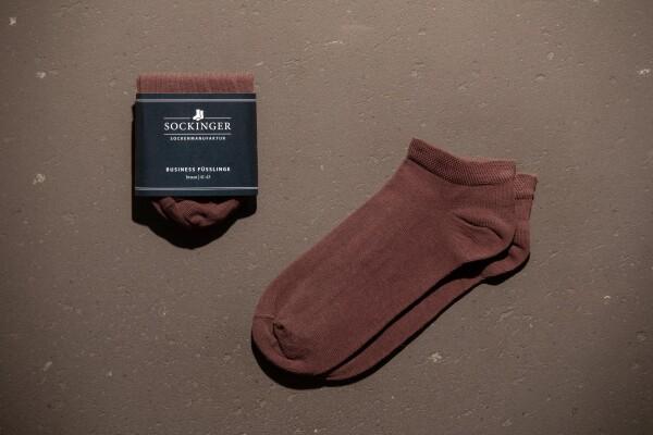 SOCKINGER FOOTLINGS in brown   Sockinger-Die Sockenmanufaktur