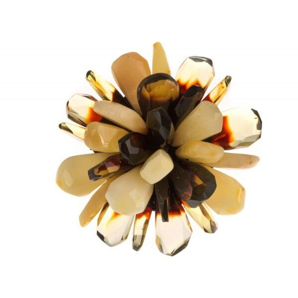 Multicolored amber ring | BalticBuy