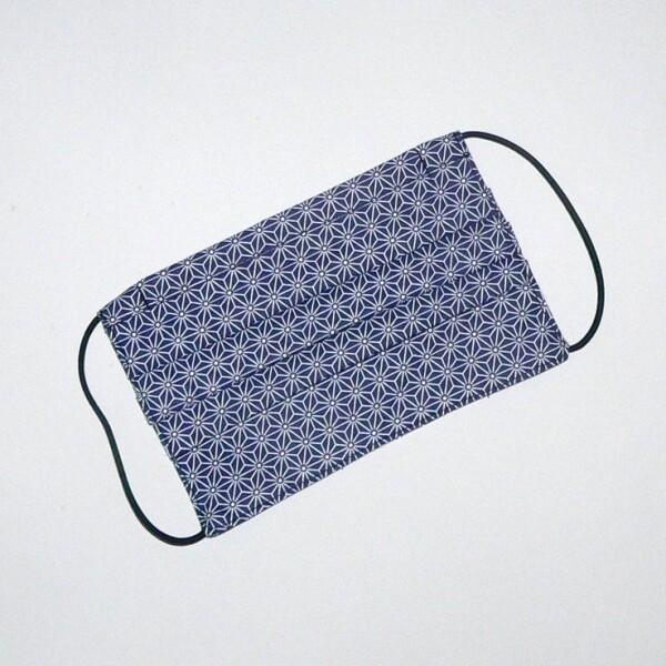 Mouth-nose mask patterned in blue | Eva Brachten Modedesign