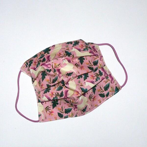 Mouth-nose-mask unicorn dusky pink   Eva Brachten Modedesign