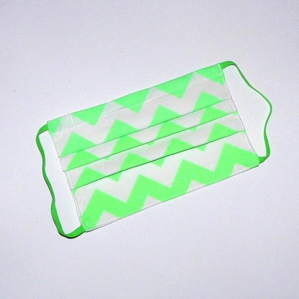 Mouth-nose mask in neon green | Eva Brachten Modedesign