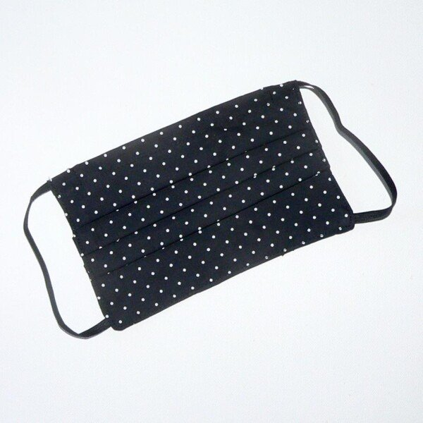 Mouth nose mask dotted black white | Eva Brachten Modedesign