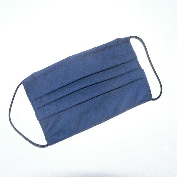 Mouth nose mask plain blue | Eva Brachten Modedesign