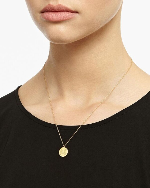 Golden Necklace Initials M - Gold | LAMARI BERLIN