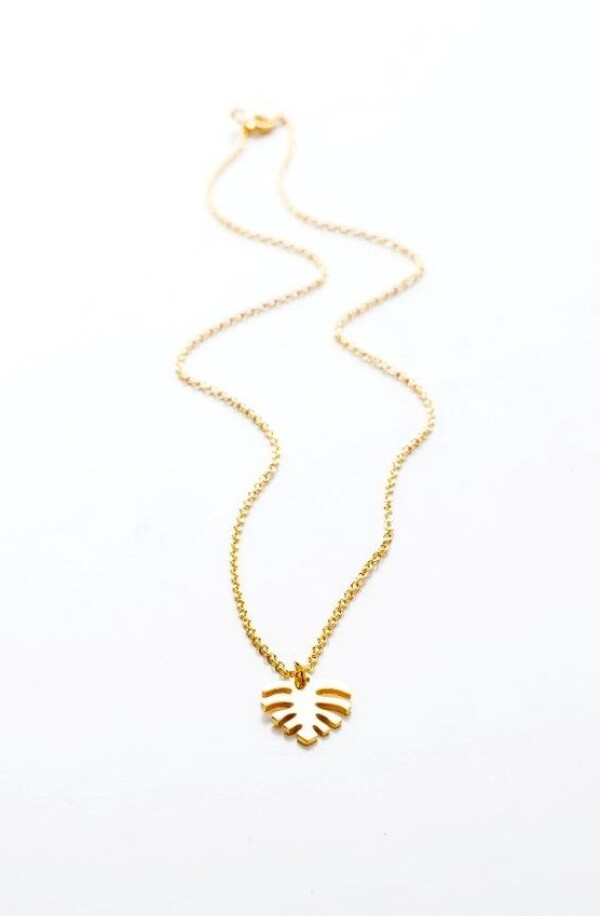 Necklace Palm gold | HLC Jewellery