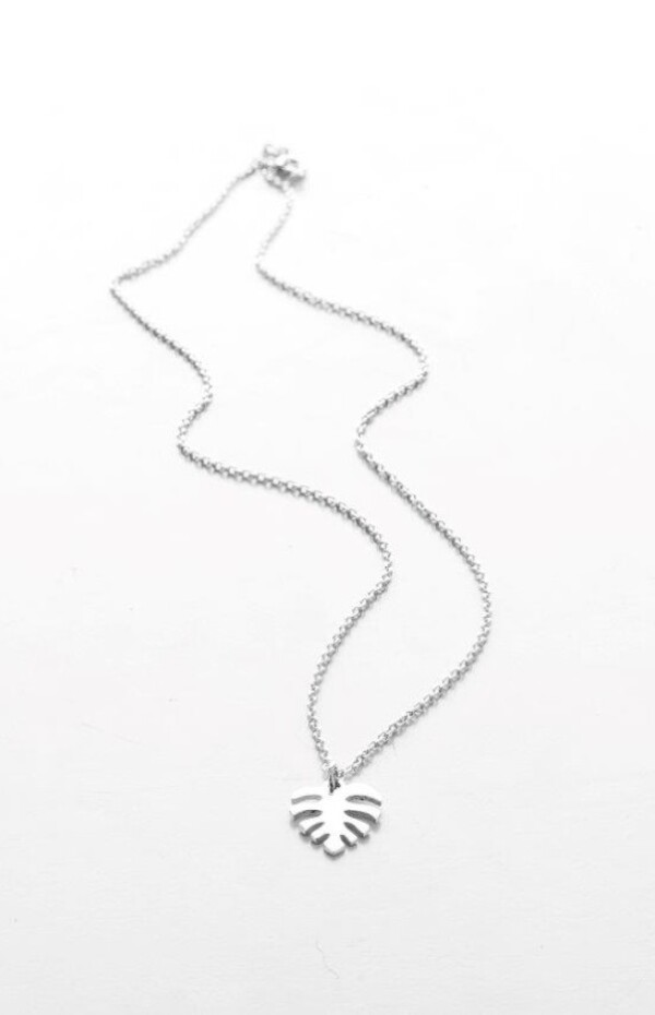 Necklace Palm silver | HLC Jewellery