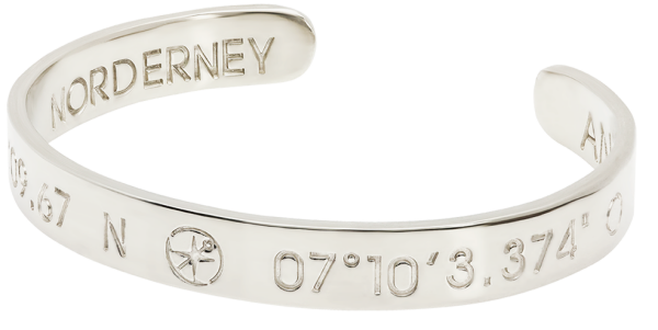 NORDERNEY Coordinate Arm Bracelets Ladies silver plated | ANCRAGE
