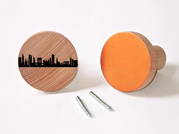 NEW YORK Wardrobes Knobs made of beech wood wall hooks | 44spaces