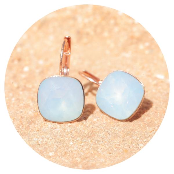 Artjany earring air opal rose gold | artjany - Kunstjuwelen