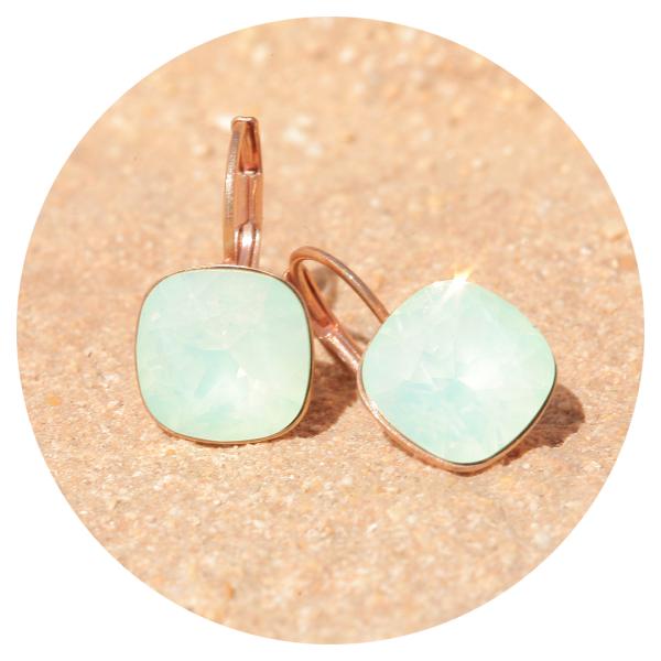 Artjany earring crysolite opal rose gold | artjany - Kunstjuwelen
