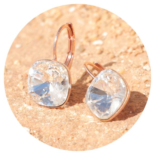 Artjany earring crystal rose gold | artjany - Kunstjuwelen