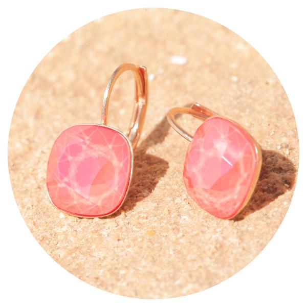 Artjany earring light coral rose gold | artjany - Kunstjuwelen