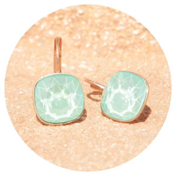 Artjany earring mint green rose gold | artjany - Kunstjuwelen
