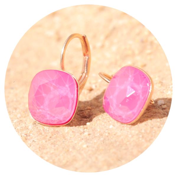 Artjany earring peony pink rose gold | artjany - Kunstjuwelen