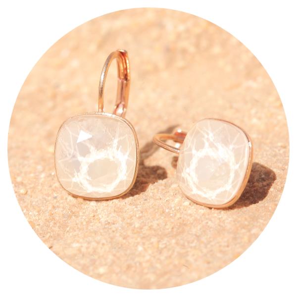 Artjany earring royal ivory rose gold | artjany - Kunstjuwelen