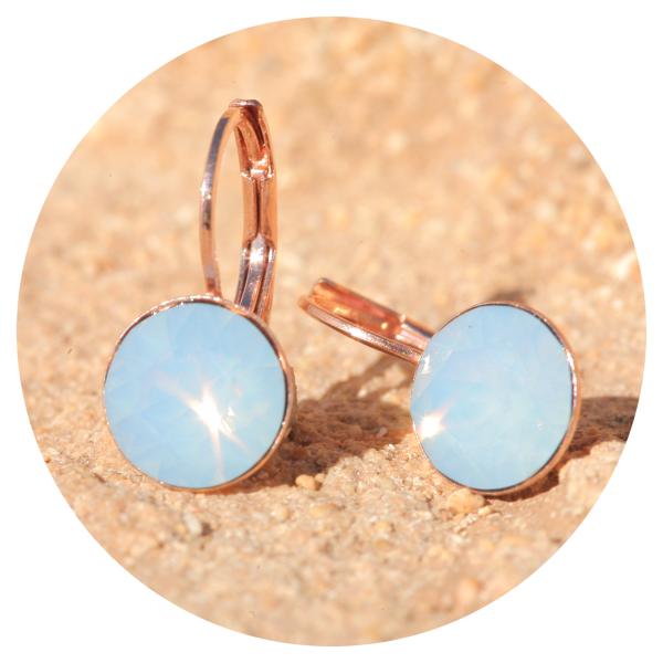 Artjany earrings airopal rose gold | artjany - Kunstjuwelen