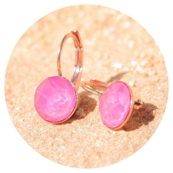 Artjany earrings peony pink rose gold | artjany - Kunstjuwelen