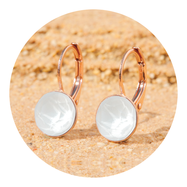 Artjany earring powder gray | artjany - Kunstjuwelen