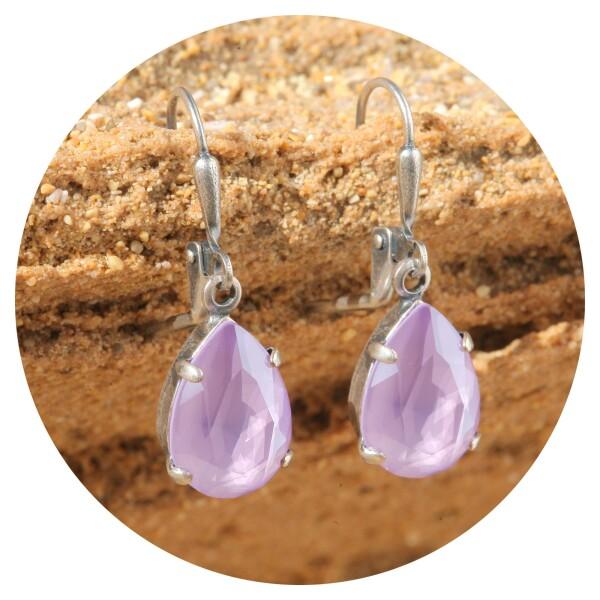 artjany earring crystal lilac silver | artjany - Kunstjuwelen