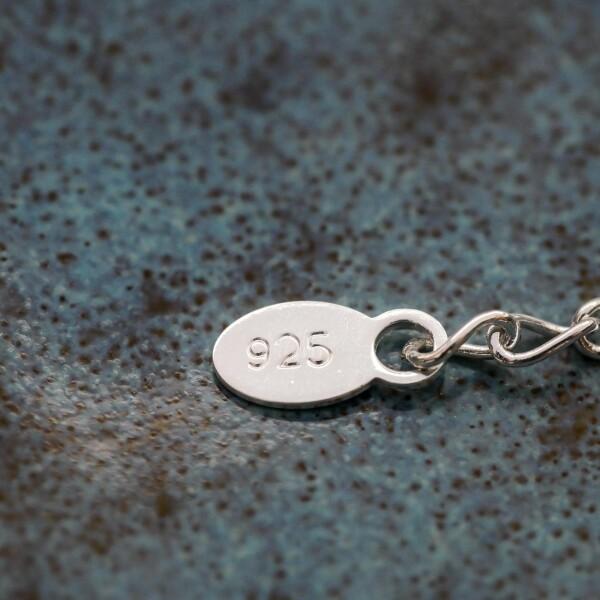 Short necklace with Kussmund sterling silver   Perlenmarkt