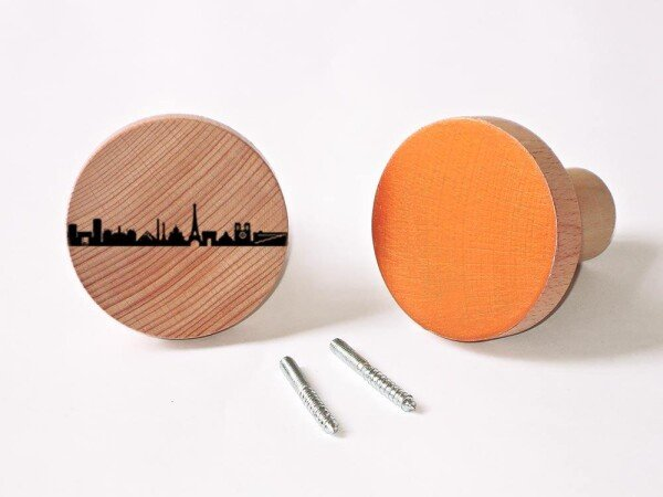 Paris Wardrobes Knobs made of beech wood wall hooks | 44spaces