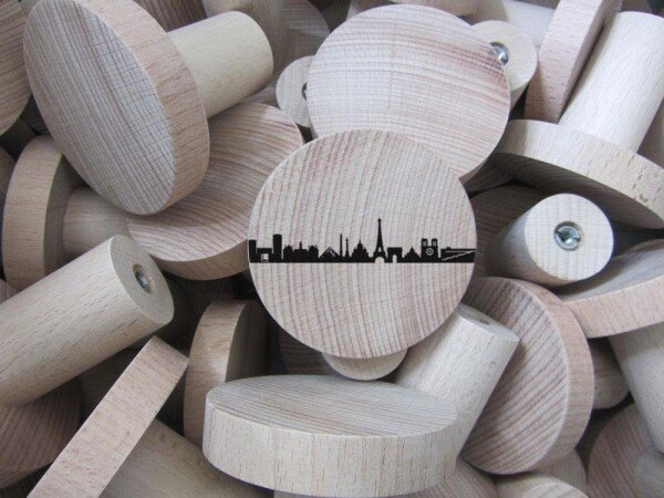 Paris Wardrobes Knobs made of beech wood wall hooks   44spaces