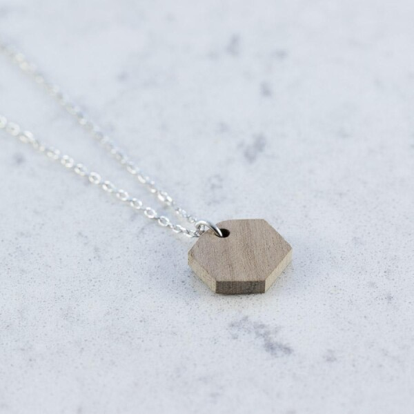Walnut HEXAGON NECKLACE | Debosc