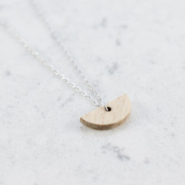 Beech HALF-MOON NECKLACE | Debosc