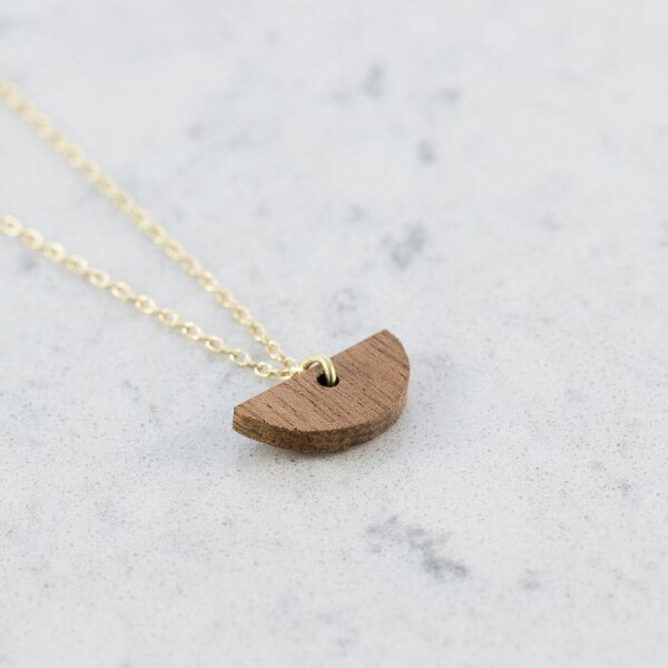 Sapele HALFMOND NECKLACE | Debosc