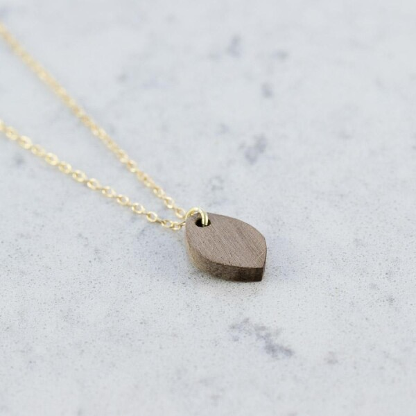 Walnut OVAL NECKLACE | Debosc