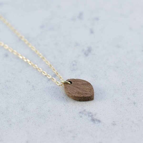 Sapele OVAL NECKLACE | Debosc